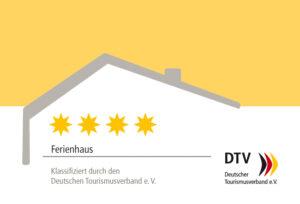 DTV-Klassifizierungsschild Ferienhaus 4 Sterne