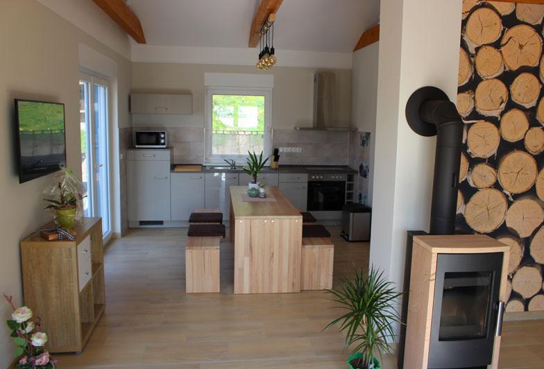 Wohnküche,  Gesamtansicht